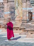 Novice monk in bagan Myanmar Royalty Free Stock Images