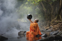Novice monk stock photos