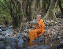 Novice monk learning Stock Image