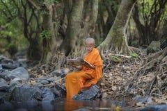 Novice monk learning Royalty Free Stock Photo