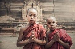 Novice monk in Myanmar Stock Photo