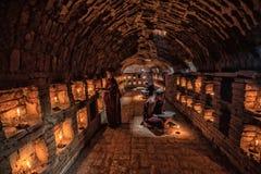 Novice monk reading book,in monastery. Bagan, Myanmar royalty free stock photo
