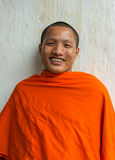 Novice monk smiles. Royalty Free Stock Image