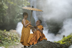 Novice monk Stock Image