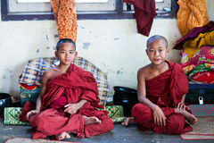 Novice monks, Myanmar Stock Photo