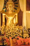 Doi Suthep Golden hill temple at Chiang Mai, in Thailand stock image