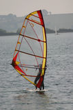 Novice windsurfer Royalty Free Stock Photo