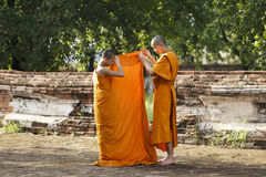 Novices are taught robe blanket Royalty Free Stock Images