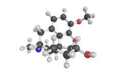 Novicondin, także znać jako Dihydroneopine, kliniczny lek 3D Mo Zdjęcia Stock