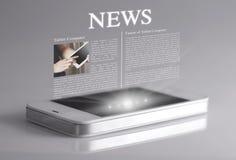 Novidades na tela 3d Foto de Stock