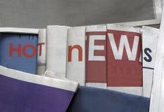 Novidades no fundo dos jornais imagem de stock royalty free