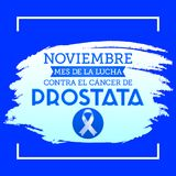 Noviembre mes de la lucha contra o câncer de Prostata do EL, mês de novembro da luta contra o espanhol do câncer da próstata text Fotos de Stock