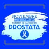 Noviembre mes de la lucha smsar contra el cancer de Prostata, den November månaden av kampen mot spanjor för prostatacancer royaltyfri illustrationer