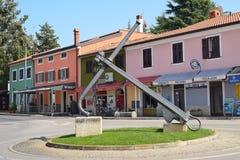 NOVIGRAD,克罗地亚- 2017年8月31日:Novigrad街道视图  否 免版税库存照片
