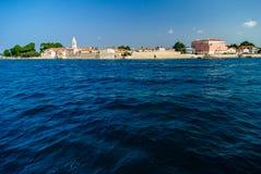 Novigrad - Cittanova panoramautsikt Arkivfoto