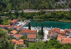 Picturesque small riverside town of Novigrad in Croatia stock images