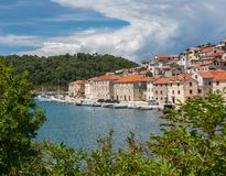 Picturesque small riverside town of Novigrad in Croatia royalty free stock photography