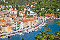 Novigrad Dalmatinski aerial waterfront view Royalty Free Stock Image