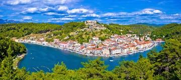 Novigrad Dalmatinski Bay Panoramic View Royalty Free Stock Images