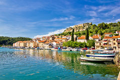 Novigrad dalmatinski waterfront panoramic view Stock Photography