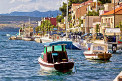 Novigrad dalmatinski waterfront summer view Royalty Free Stock Image