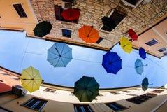 Novigrad - het strand en de golven van Cittanova Royalty-vrije Stock Foto's