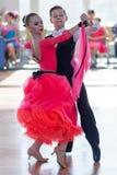 Novikov Yaroslav e programa padrão de Murza Alina Perform Juvenile-1 Fotos de Stock