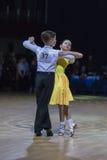 Novikov Yaroslav and Murza Alina perform Juvenile-1 Standard European program Stock Images