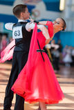 Novikov Yaroslav und Standard-Programm Murza Alina Perform Juvenile-1 Stockbild