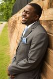 Novio afroamericano hermoso Smiling Foto de archivo libre de regalías