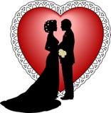 Novio de la novia stock de ilustración