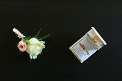 Novio del boutonniere de los accesorios de la boda Fotos de archivo libres de regalías