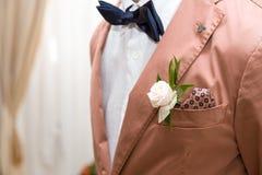 Novio del vestido Foto de archivo libre de regalías