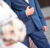 Novio en la boda Imágenes de archivo libres de regalías