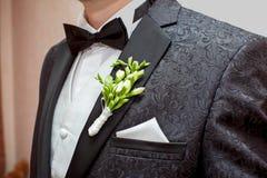 Novio en la boda Imagen de archivo libre de regalías