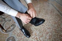 Zapatos del novio Foto de archivo