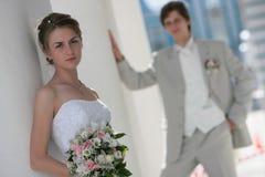 Novio y novia Fotografía de archivo