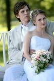 Novio y novia Foto de archivo