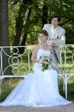 Novio y novia Imagen de archivo libre de regalías