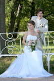 Novio y novia Imagenes de archivo