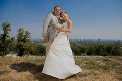 Novio y novia fotos de archivo libres de regalías