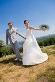 Novio y novia foto de archivo libre de regalías