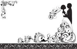 Novio y novia stock de ilustración