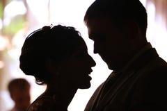 Novio y novia del retrato Imagen de archivo libre de regalías