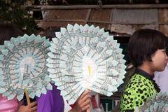 Novitiation ceremony in Myanmar Royalty Free Stock Image
