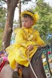 Novitiation ceremony in Myanmar Stock Photo