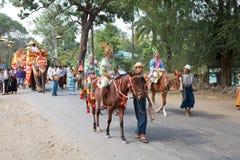 Novitiation ceremony in Myanmar Stock Image