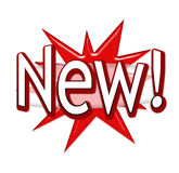 Novo! Fotografia de Stock Royalty Free
