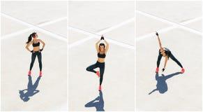 Novo, ajuste e treinamento desportivo da menina exteriores Aptid?o, esporte, movimentar-se urbano e conceito saud?vel do estilo d imagem de stock royalty free