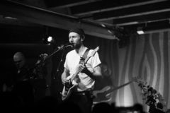 Novo Amor Performance at Doug Fir Portland Oregon royalty free stock photography